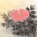 前田青邨の牡丹図 日本画を出張買取いたしました