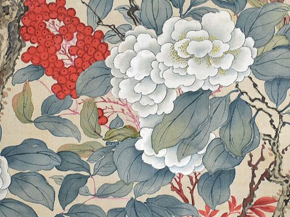 椿椿山 花鳥図 掛軸をお買い受けしました